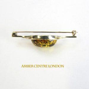 Italian Handmade Elegant German Green Baltic Amber Brooch 9ct Gold GB0001G RRP£250!!!