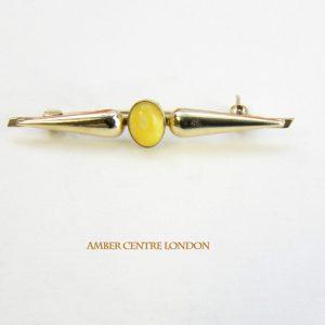 Italian Handmade Elegant German Baltic Amber Brooch 9ct Gold GB0027Y RRP£295!!!