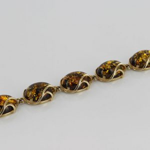 ITALIAN MADE GREEN GERMAN BALTIC AMBER BRACELET 9CT solid GOLD -GBR002G RRP£1600!!!
