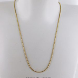 Italian Made Classic Snake Chain 9ct solid Gold 15 Inch /38 cm 1.0 mm GCH013 RRP£255!!!