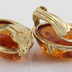 Italian Handmade German Amber Clip On Earrings 9ct Gold GCL0013 RRP£595!!!