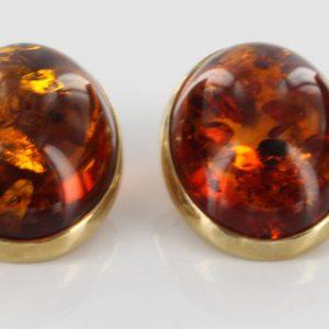 Italian Handmade Baltic Amber Clip On Earrings 9 ct Gold-GCl0016 RRO£575!!!