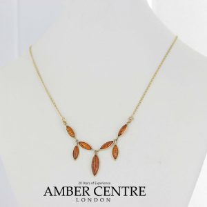 Italian Handmade German Baltic Amber Necklace in 9ct solid Gold- GN0052 RRP£495!!!