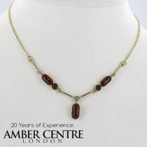 Italian Handmade German Baltic Amber Necklace in 9ct Gold- GN0066 RRP£425!!!