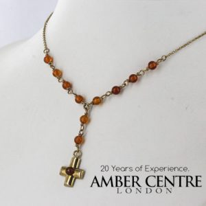Italian Handmade German Baltic Amber Necklace in 9ct solid Gold- GN0110 RRP£395!!!