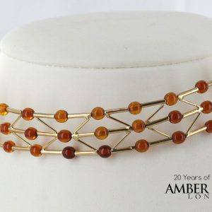 Italian Hand Made Unique German Baltic Amber Necklace in 14ct solid Gold- GN0191 RRP£1725!!!