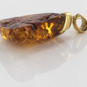 Italain Hand Made German Baltic Amber Pendant in 14ct Italian Gold - GP0357 RRP£790!!!