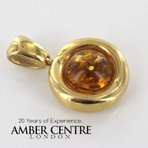 Italian Hand Made German Baltic Amber Elegant Pendant in 14ct Gold -GP0375 RR£625!!!