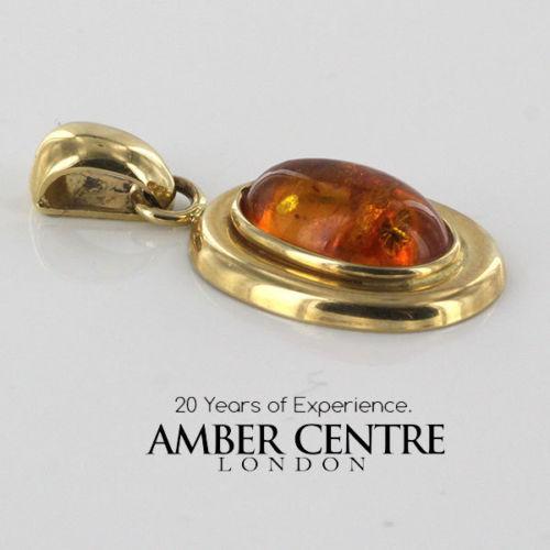 Italian Hand Made Elegant German Baltic Amber Pendant in 14ct solid Gold -GP0875 RRP£245!!!
