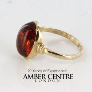 Italian Handmade Elegant German Baltic Amber Ring in 9ct solid Gold-GR0021 RRP £185!!!