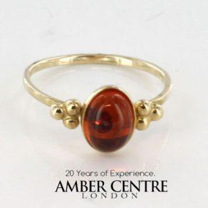 Italian Handmade Elegant German Baltic Amber Ring in 9ct solid Gold-GR0032 RRP £145!!!