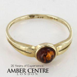 Italian Handmade Elegant German Baltic Amber Ring in 9ct Gold-GR0051 RRP £145!!!