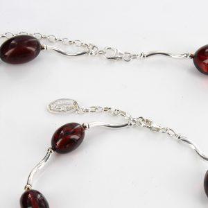 Italian Handmade Cherry Baltic Amber Set 925 Sterling Silver- SET11 RRP£250!!!