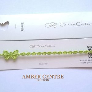 Lime Green Cruciani Butterfly Necklace RRP£20!!!