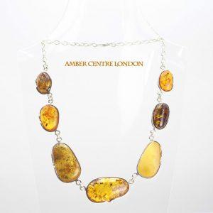 German Baltic Amber Handmade Necklace in 925 Sterling Silver N002 RRP£550!!!