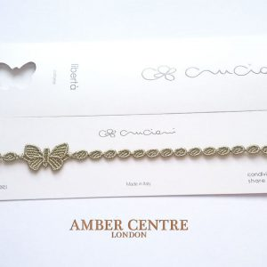 Cruciani Olive Green Butterfly Necklace RRP£20!!!
