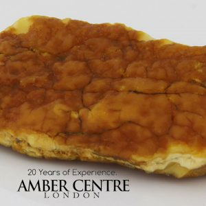 GERMAN BUTTERSCOTCH /MILKY RAW BALTIC AMBER PIECE 19.7 GRAMS-RS018 RRP£195!!!
