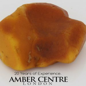 GERMAN BUTTERSCOTCH RAW UNPOLISHED BALTIC AMBER PIECE 14.5 GRAMS-RS019 RRP£150!!!