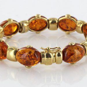 Italian Handmade Elegant Unique German Baltic Amber Bangle In 9ct solid Gold-GBAN003 RRP£2500!!!