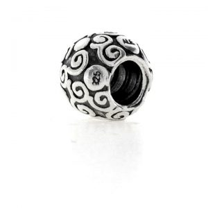 Authentic Retired Pandora Sterling Silver Swirl Dots Bead Charm 790161 RRP£35!!!