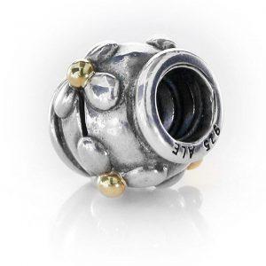 RETIRED! Genuine Pandora Charm -14ct Gold & 925 Silver Flower - 790383 RRP£95!!!