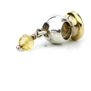 Genuine Pandora 925 Silver and 14k Gold Charm - Citrine - 790391CCZ RRP£175!!!