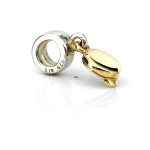 Genuine Pandora Silver 925 ALE Charm with 14ct Gold - Hat - 790118 RRP £95!!!