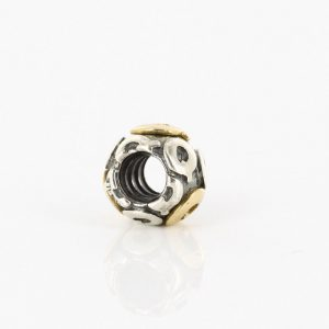 Genuine Pandora 925 Silver and 14CT Gold Charm - Letter Q - 790298Q RRP£95!!!