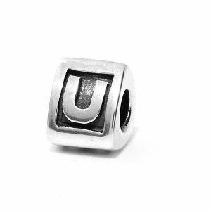 Genuine Pandora Silver 925 ALE Charm - Letter U - 790323U RRP£30!!!