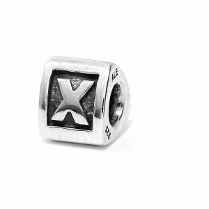 Genuine Pandora Silver 925 ALE Charm - Letter X - 790323X - RRP£30!!!