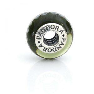 Genuine Pandora Charm BLACK ZIG ZAG Murano Glass 925 ALE - 790601 RRP£45!!!