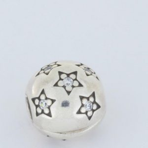 Genuine Pandora S925 ALE Clip/Charm - Star Pave Cubic Zirconia - 791058CZ RRP£55!!!