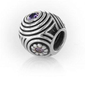 Genuine Pandora 925 ALE PURPLE ZIRCONIA Charm - HYPNOTIC - 790432ACZ RRP£65!!!