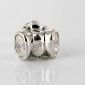 "Pandora Charm - Silver Cubic Zirconia ""CAT'S EYE "" RETIRED! - 790289CZ RRP£65!!!"