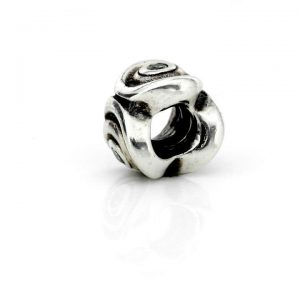 PANDORA Authentic Silver and Green Zirconia Spirals Charm 790318CZP RRP£55!!!