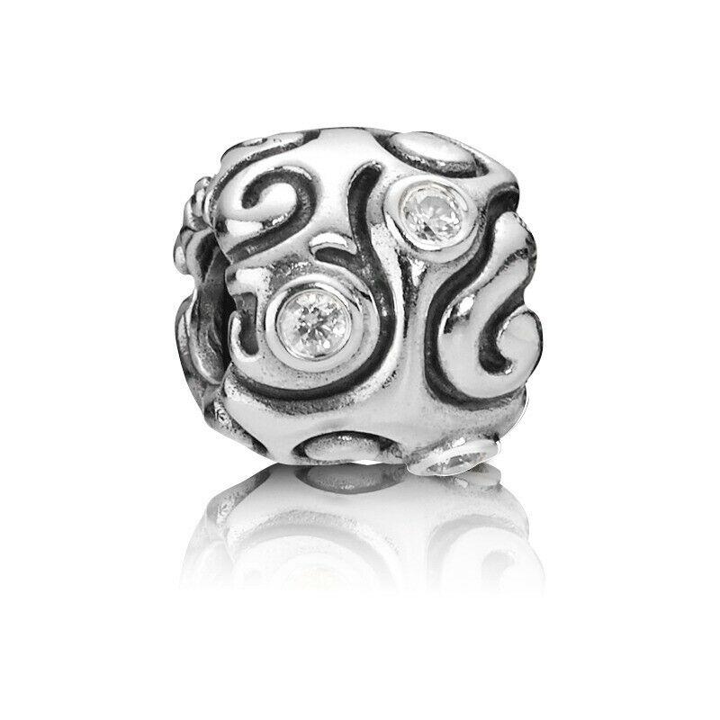 "Genuine Pandora 925 ALE Silver Zirconia ""DAY DREAM"" Charm - 790548CZ RRP£65!!!"