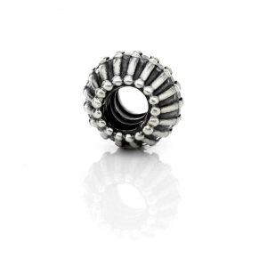 Genuine PANDORA 925 ALE Silver Ribbon Charm Clear Zirconia 790545CZ RRP£125!!!