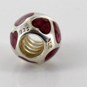 "Genuine PANDORA Silver and Purple Enamel ""Love Me"" Charm 790543EN21 RRP£55!!!"
