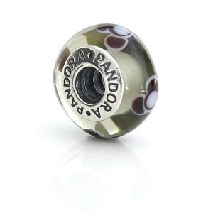 PANDORA Genuine SILVER 925 ALE-GREY FLOWER FOR YOU CHARM-790642 RRP£45!!!