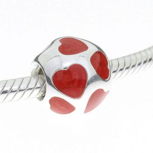 Pandora Genuine Silver S925 ALE Charm-Red Enamel Heart -790543EN17 RRP£45!!!