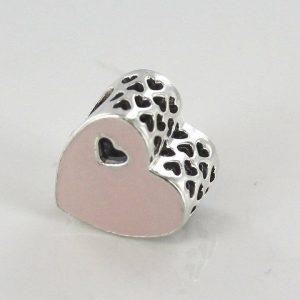 PANDORA Genuine S925 ALE-SWEET LOVE HEART SILVER CHARM-791812EN40 RRP£50!!!