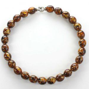 German Baltic Amber Beads Mosaic Unique designer Genuine - A0044 RRP£220!!!