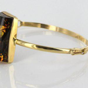 Bangle In 14ct solid Gold Italian Handmade German Green Baltic Amber GBAN004 RRP£2000!!!