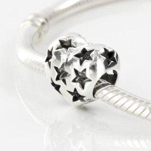 Genuine Pandora Silver Charm S925 ALE-Openwork heart -791393 RRP£45!!!