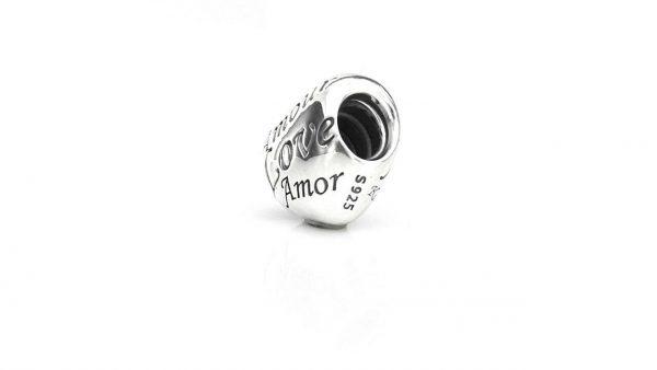 Genuine Unique Pandora Silver Charm S925 ALE -ENGRAVED HEART- 791111 RRP£45!!!