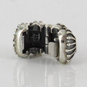 PANDORA Genuine 925 ALE PINK ENAMEL OYSTER CLIP CHARM 790578EN24 RRP£65!!!