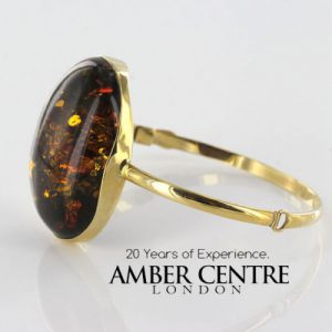 Bangle In 14ct solid Gold Italian Made German Green Baltic Amber - GBAN001 RRP£2500!!!