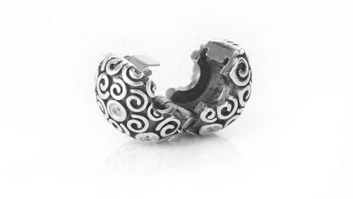 Genuine Pandora 925 ALE Silver Clip Charm - WHITE CZ GALAXY 790962CZ RRP£75!!!