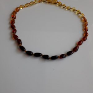 Teething Baby/Child Necklace Genuine Natural Multicolored Baltic Amber A09268 RRP£25!!!