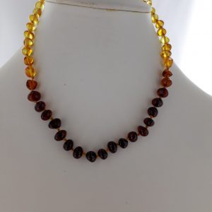 Teething Baby/Child Necklace Genuine Natural Multicolored Baltic Amber A09258 RRP£25!!!